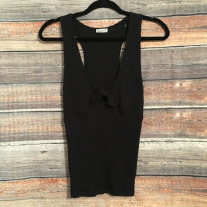Free people textured knot cutout tank top NWOT